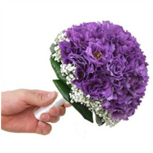 Bridal Purple Lisianthus bouquet